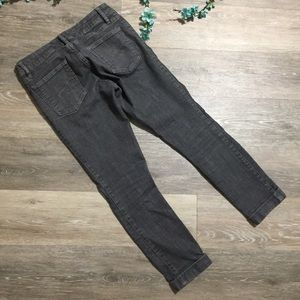 GAP Jeans - GAP Skinny Gray Denim Cropped Jeans